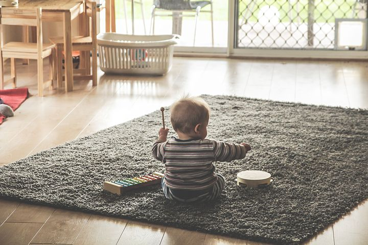 Baby-On-The-Floor-Playing